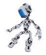 Blue Screen Robot, Silver Coating