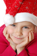 cute little smiling Santa girl
