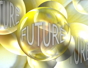 Crystal Ball Showing the Future