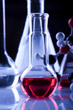 Pure Red Fluid in Laboratory poster