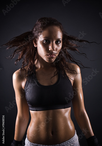 sexy female boxer
