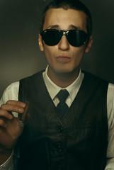 Guy smoking cigar