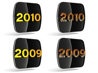 3d 2009, 2010 icon (black end yellow)