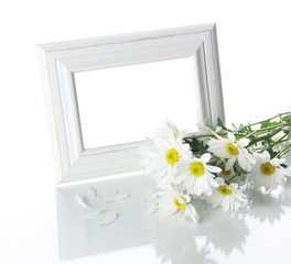 Blanching frame and flowers
