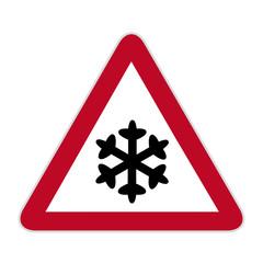 Verkehrsschild Schneegefahr