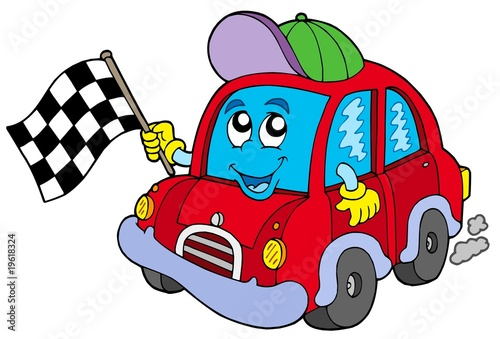 Poster Cars Car race starter