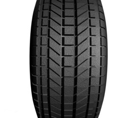Tire print isolated