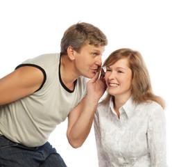 Whispering couple