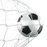 Fototapety Soccerball in net