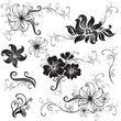 Vector Seamless floral twirled pattern