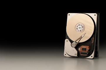 Hard Disk - black background
