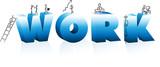 Doodle Cartoons Climbing Word Work poster