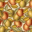 roleta: Seamless apple background