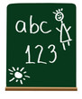 Primary school letters and numbers