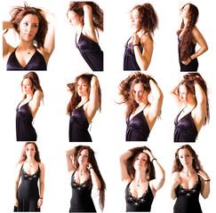 planche d'une jeune femme jouant avec ses cheveux