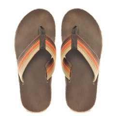 Retro Orange and Brown Sandals