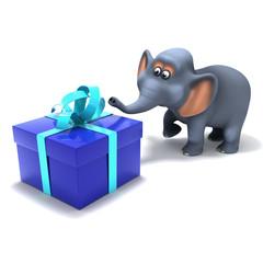 Elephant big present