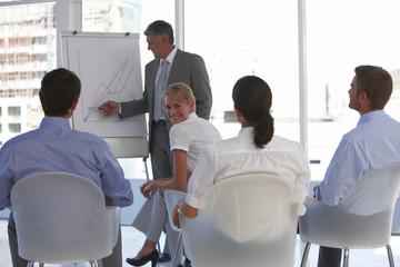 At a presentation