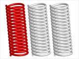 Vector springs isolated on white background