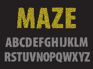 Maze letters