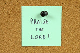 Religion - Praise the Lord message poster