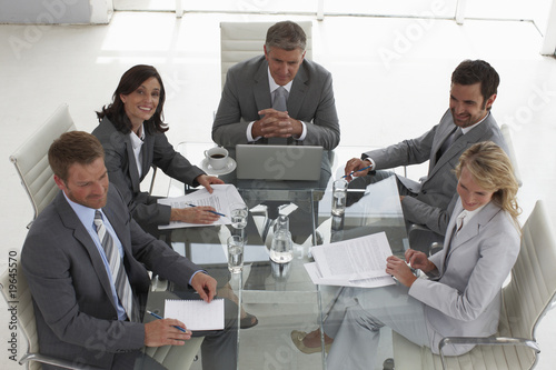 Executives team at a meeting
