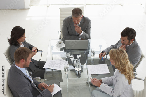 Colleagues having a meeting