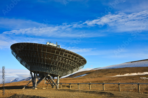 Directional Radio Antenna On Hillside Poster