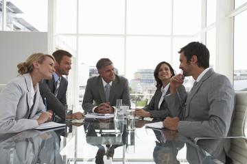 At an executive meeting