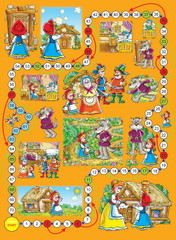 "Board game ""Little Red Riding Hood"""