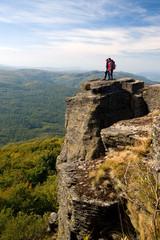 Trekkers in Vihorlat Mountains