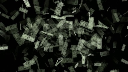 Money animation, Created with hundreds,tens and one dollar bills