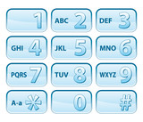 telephone blue keyboard