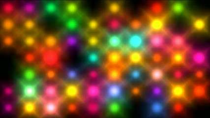 Color circle neon matrix, disco light