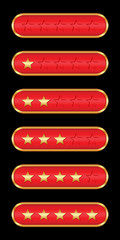 Gold stars (red background)