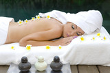 The young beautiful woman to Spa procedures poster