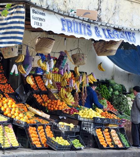 Fotobehang Algerije fruits et légumes...étalage
