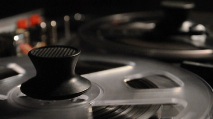 vintage reel-to-reel recorder macro
