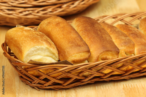 Breakfast buns in basket
