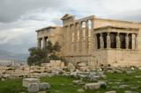 Caryatid Porch of Erechtheum at Akropolis. Athens, Greece poster