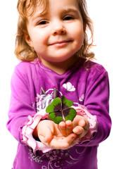 Kind mit der Glücksklee