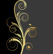 black and gold background for design