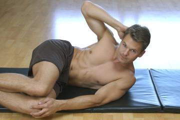 Side crunch sit up