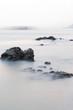 long exposure of rock coast background