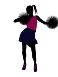 Cheerleader silhouette on a white background