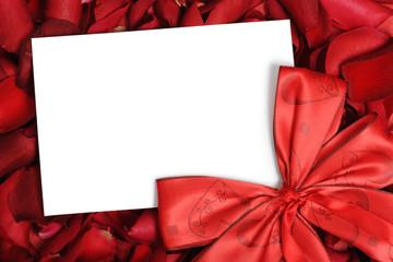 cartolina con fiocco rosso