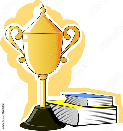 Illustration of prize with two books