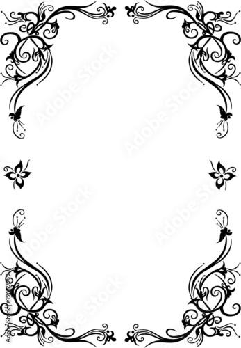 rahmen blumen floral ornamental filigran schn rkel. Black Bedroom Furniture Sets. Home Design Ideas