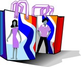 Illustration of design with shopping pouch