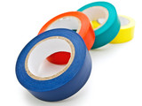 multicolored insulating tapes poster